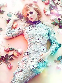 Romantic & pretty, floral fashion photography; fashion photoshoot inspiration