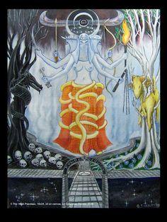 The High Priestess from Tarot of the Golden Serpent by Sebastian Haines #Tarot
