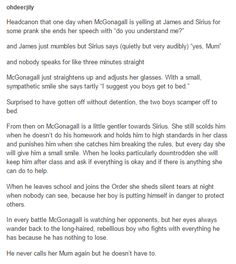 Sirius Black and McGonagall