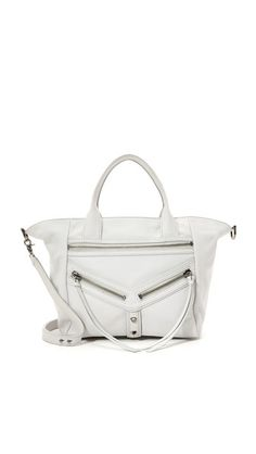 A tonal V panel and pyramidal studs lend an industrial touch to this slouchy Botkier tote. Inset top zip and lined interior with 3 pockets and 2 card slots. Little Bag, Purses And Handbags, Convertible, Dust Bag, Gym Bag, Shoulder Strap, Studs, Satchel, Swag