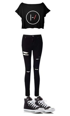 """""""Tøp concert // twenty one pilots concert outfit"""" by itsoliviashort ❤ liked on Polyvore featuring Miss Selfridge and Converse"""