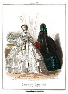 1858 Journal des Demoiselles, March