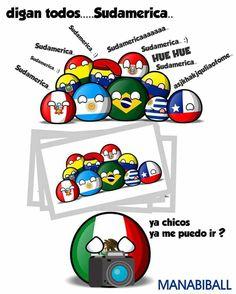 pobre Mexico... quiere ser parte de sudamerica... JAJAJAJJS