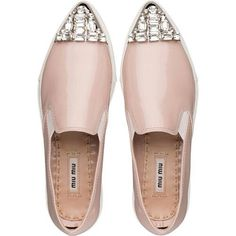 Miu Miu e-store · Shoes · Sneakers · Sneakers from miu miu. Saved to OMG Shoes! Miu Miu Schuhe, Miu Miu Shoes, Slip On Sneakers, Slip On Shoes, Shoes Sneakers, Flat Shoes, Crazy Shoes, Me Too Shoes, Miu Miu Sneaker
