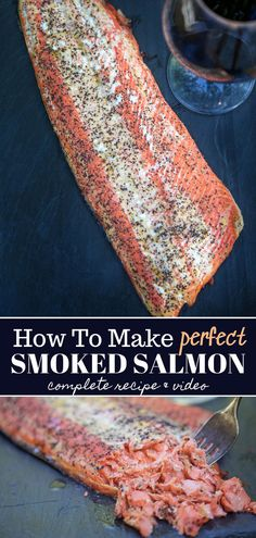 A complete tutorial and guide on how to make perfect smoked salmon Just a few simple ingredients and time on the smoker makes the most tender and flavorful salmon fillet salmon smokedsalmon howtosmokesalmon seafood vindulge Best Smoked Salmon, Smoked Salmon Recipes, Smoked Fish, Smoked Salmon Appetizer, Traeger Recipes, Grilling Recipes, Fish Recipes, Seafood Recipes, Cake Recipes