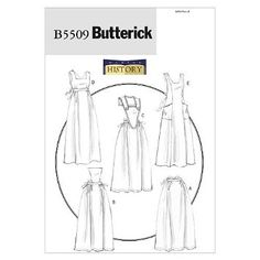 Butterick Patterns 5509 Aprons, All Sizes