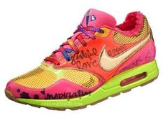 brightly colored Nike shoes....OMG...BRIGHT....LOVE!