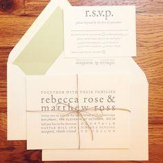 tiethatbindsweddings's photo on Instagram - letterpress clean and modern wedding invitations  - custom product from www.tiethatbindsweddings.com