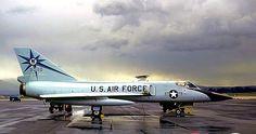 A USAF 318th FIS Convair F-106A Delta Dart sits on the McChord AFB ramp.