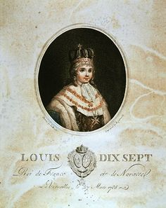 Louis XVII (1785-1795) as crowned King of France, c. 1793, English school