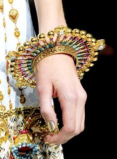 Manish Arora...wouldn't want to eat with this on, or hug someone wearing this...but it's cool.