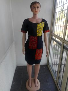 40633740f2  onyinglowfashion demin n ankara dress order from us today African Wear
