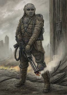 Alliance Slugger by jflaxman on DeviantArt Character Concept, Character Art, Character Design, Future People, Apocalypse Art, Future Soldier, Fallout New Vegas, Arte Horror, Sci Fi Characters