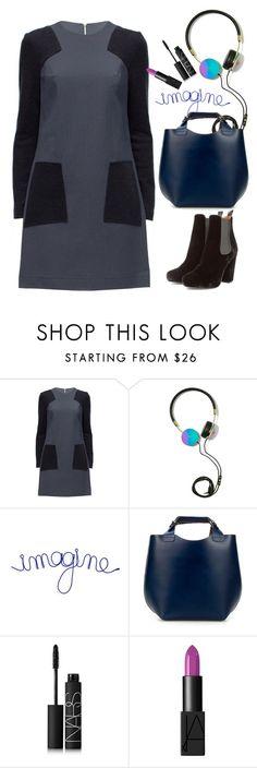 """Lattori shift dress"" by thestyleartisan ❤ liked on Polyvore featuring Lattori, Frends, Zara, NARS Cosmetics and Minimaliststyle"