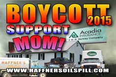 Dear readers, supporters and friends, Help spread the word of this Campaign! You want to learn about this story and Help This Campaign? www.haffnersoilspill.com Contact These Companies http://haffnersoilspill.com/protests.html #BOYCOTT #CRUDE #Environmental #Management #Evildoers #OIL #OILSPILL #Breakingnews #News #Disaster #Fundraiser #Campaign  #MOM #HOME #Family #Grandmother #Victim #EPA #nhdes #Donkey #Clown #epa