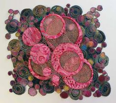 The Hoarder's Art Room: Primordial Soup - Textile Art