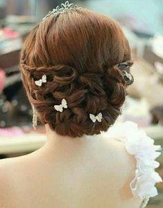 Butterfly wedding hair