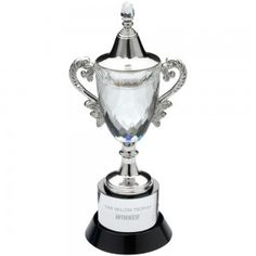 Crystal Glass Faceted trophy cup