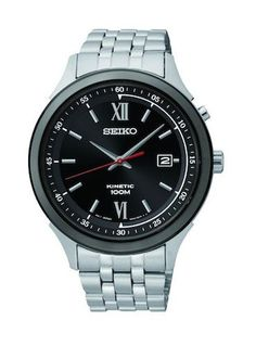 Kinetic Seiko SKA659 Men's Watch Stainless Steel Black Dial