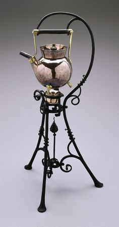 Kettle And Stand, ca. 1885, Christopher Dresser