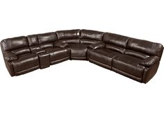 Cindy Crawford Home Auburn Hills Taupe Leather 3 Pc Reclining Sectional .2977.0. 141W x 136D x 39.5H. Find affordable Sectional Living Rooms for your home that will complement the rest of your furniture.  #iSofa #roomstogo