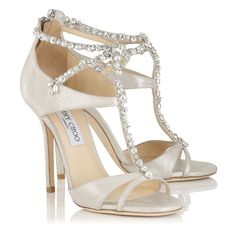 Jimmy Choo capsule collection Everything about the new Jimmy Choo capsule collection Watch the video and all pumps and sandals now. White Leather Shoes, Off White Shoes, White Sandals, Leather Sandals, Heeled Sandals, Real Leather, Pumps, Shoes Heels, Bridal Shoes
