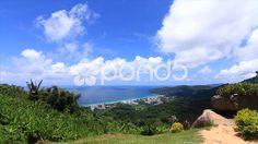 Tropical Island Mountain Sky Clouds Ocean Sea City Wildlife Nature Time-lapse - Stock Footage | by RyanJonesFilms