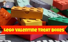 Lego Valentine treat boxes, but could totally use for goodie boxes! might like for alex