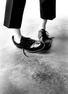 Oxfords in black and white.