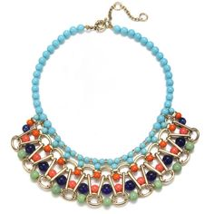 Gerard Yosca Turquoise Beaded Statement Necklace and other apparel, accessories and trends. Browse and shop 8 related looks.