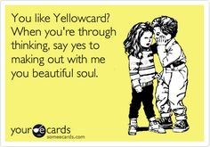 hahaha My oldest daughter used to LOVE Yellowcard!! <3