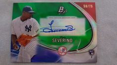 2016 Bowman Platinum Luis Severino RC Auto 50/75 New York Yankees Rookie MINT