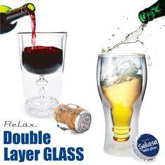 【RELAX/リラックス】ダブルレイヤーグラス Double Layer GLASS 逆さ 二重 ユニーク ワイン ビア ビール ギフト プレゼント 雑貨 おもしろ グッズ 輸入雑貨【あす楽_土曜営業】腕時計とおもしろ雑貨のシンシア ROOM - my favorites, my shop 好きなモノを集めてお店を作る