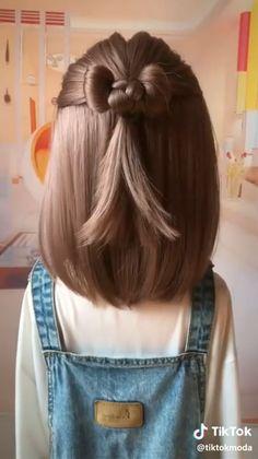 short girl hairstyles for kids toddler hair Braided Bun Hairstyles, Baby Girl Hairstyles, Heart Hairstyles, Cute Little Girl Hairstyles, Headband Hairstyles, Girl Hair Dos, Cute Girl Hair, Small Hair Style Girl, Toddler Girl Hair