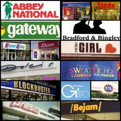 """""""Heres a little collection of high street brands and shops that have sadly dissappeared. 1980s Childhood, Childhood Memories, Windsor, Cambridge, 1980s Kids, This Is Your Life, 90s Nostalgia, Teen Life, Teenage Years"""
