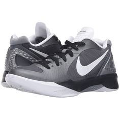 fbb2373f84e Nike Volley Zoom Hyperspike (Cool Grey/Metallic Cool Grey/Black/White)...  ($115) ❤ liked on Polyvore featuring shoes, athletic shoes, metallic shoes,  ...
