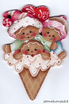 HP GINGERBREAD Ice Cream Cone FRIDGE MAGNET | Artesanías, Piezas de artesanía y acabadas, Artículos pintados a mano | eBay!