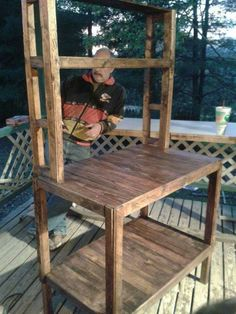 Bakers Rack Made From Recycled Pallets Pallet Decor