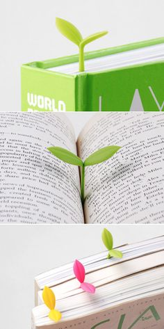 Sprout Bookmark really brings my books to life! This bookmark has a shape of sprout and helps me save the location of the book so I can quickly pick it back up. The cute shape of the sprout really makes me want to read more everyday!