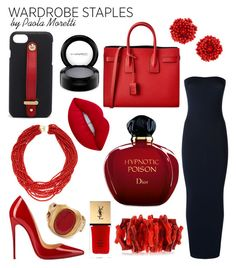 """""""Classic Style by Paola Moretti"""" by paola-moretti on Polyvore featuring Wolford, Christian Louboutin, Yves Saint Laurent, Henri Bendel, Arthur Marder Fine Jewelry, Kenneth Jay Lane, Valentino, Christian Dior, Bibi Marini and Lime Crime"""
