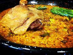 https://flic.kr/p/EC1ALh | Paella de pato. koketo | arroz en paella con pato y espárragos. koketo.es/que-es-la-paella