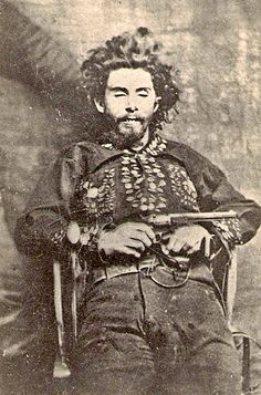 """""""Bloody Bill"""" Anderson  William T. Anderson earned his """"Bloody Bill"""" nickname for his actions during the Civil War. And in 1864 he led a Confederate guerrilla band in capturing a train in Centralia, Missouri. Some 24 Union soldiers were subsequently killed in what was an act of revenge for one of his sisters dying in Union custody."""
