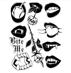Mini Tattoos, Black Tattoos, Body Art Tattoos, Tattoo Sketches, Tattoo Drawings, Traditional Tattoo Old School, Doodle Tattoo, Japanese Tattoo Art, Dark Art Drawings