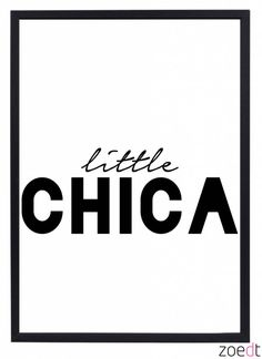 Zoedt Poster kinderkamer Little Chica Little Babies, Little Girl Rooms, Baby Kids, Baby Quotes, Quotes For Kids, Poster Wall, Poster Prints, Posters, Silhouette Art