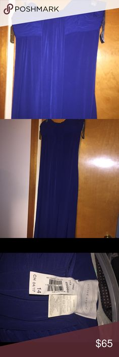 dress. Beautiful prom dress used for only hours midnight blue. Dresses Prom
