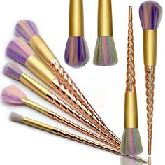10 Piece Magical Unicorn Makeup Brush Set