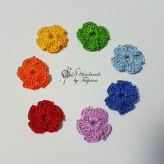 Gehäkelte Blumen In Regenbogenfarben 25 Cm 7stk Häkelshop