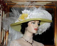 Victorian Hat � Lemon Meringue Crystal Fairy