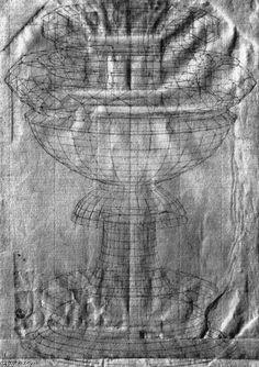 'perspective étudier', stylo de Paolo Uccello (1397-1475, Italy)