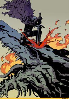 Hawkwood The Deserter,Ancient Wyvern,DSIII персонажи,Dark Souls 3,Dark Souls,фэндомы